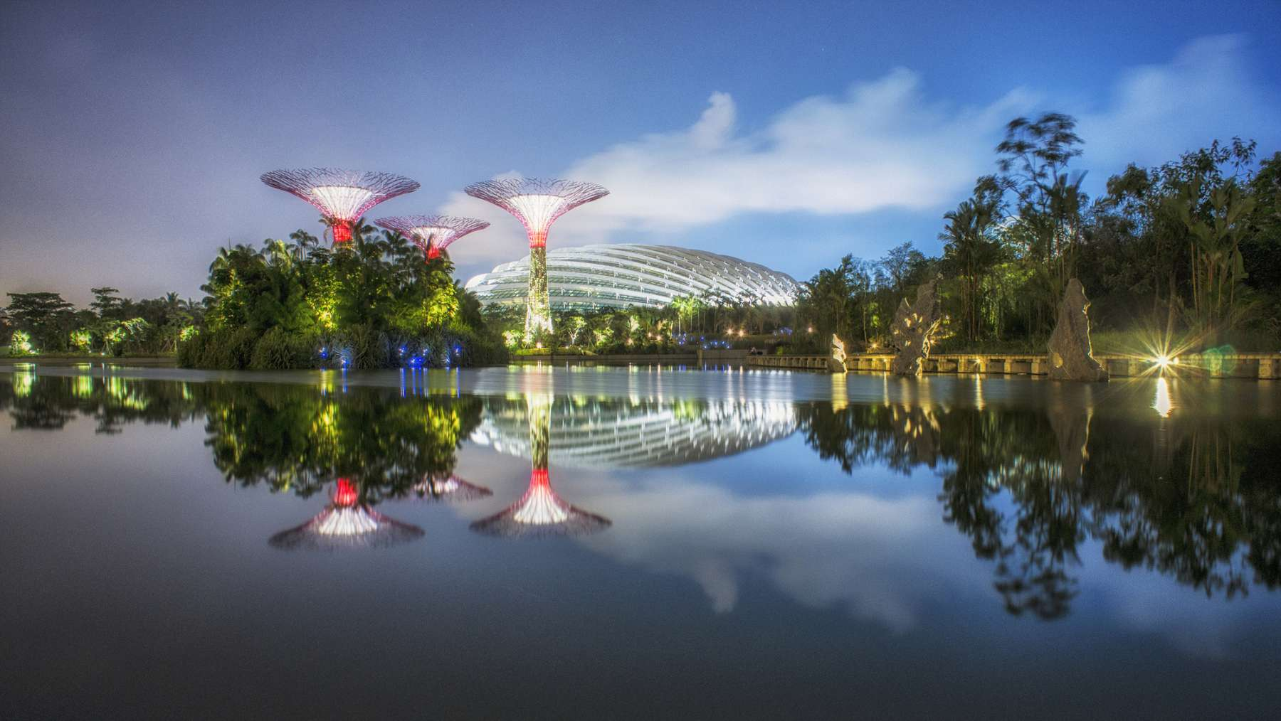 Jardines Gardens by the Bay, Marina Bay, Singapur